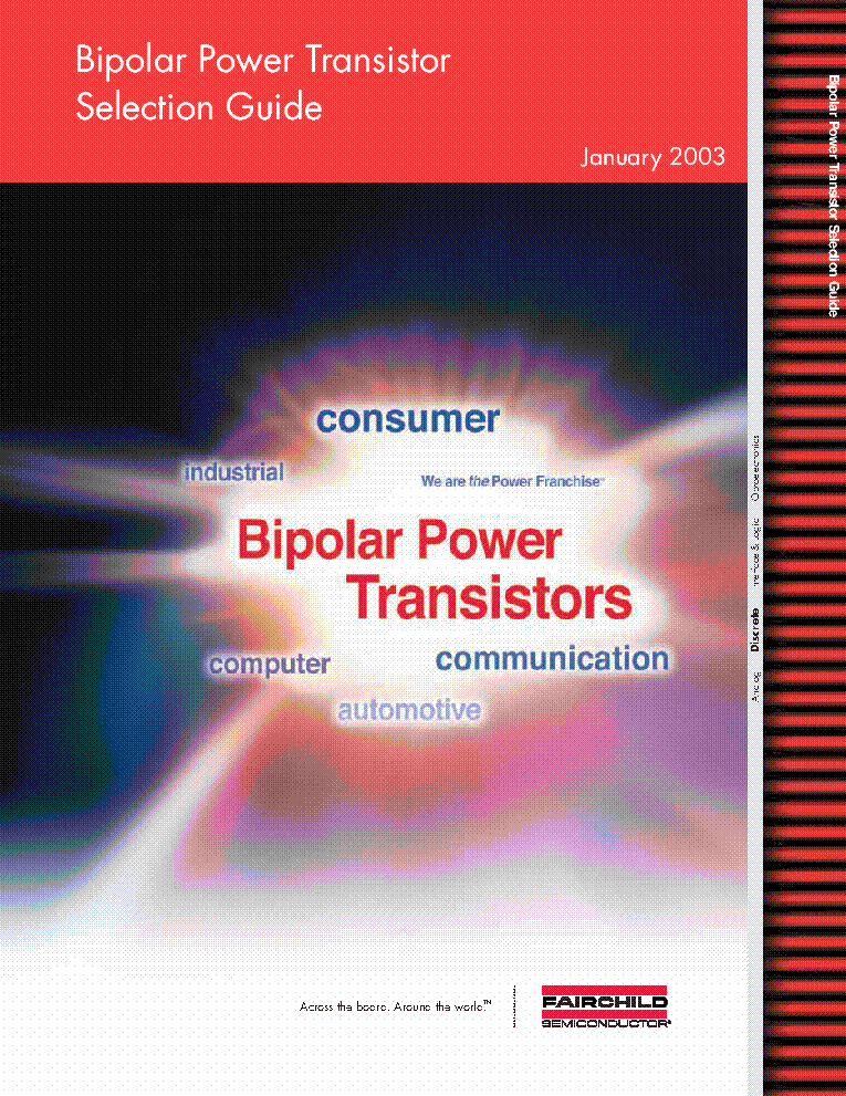 BIPOLAR POWER TRANSISTOR SELECTION GUIDE [2003] service manual (1st page)